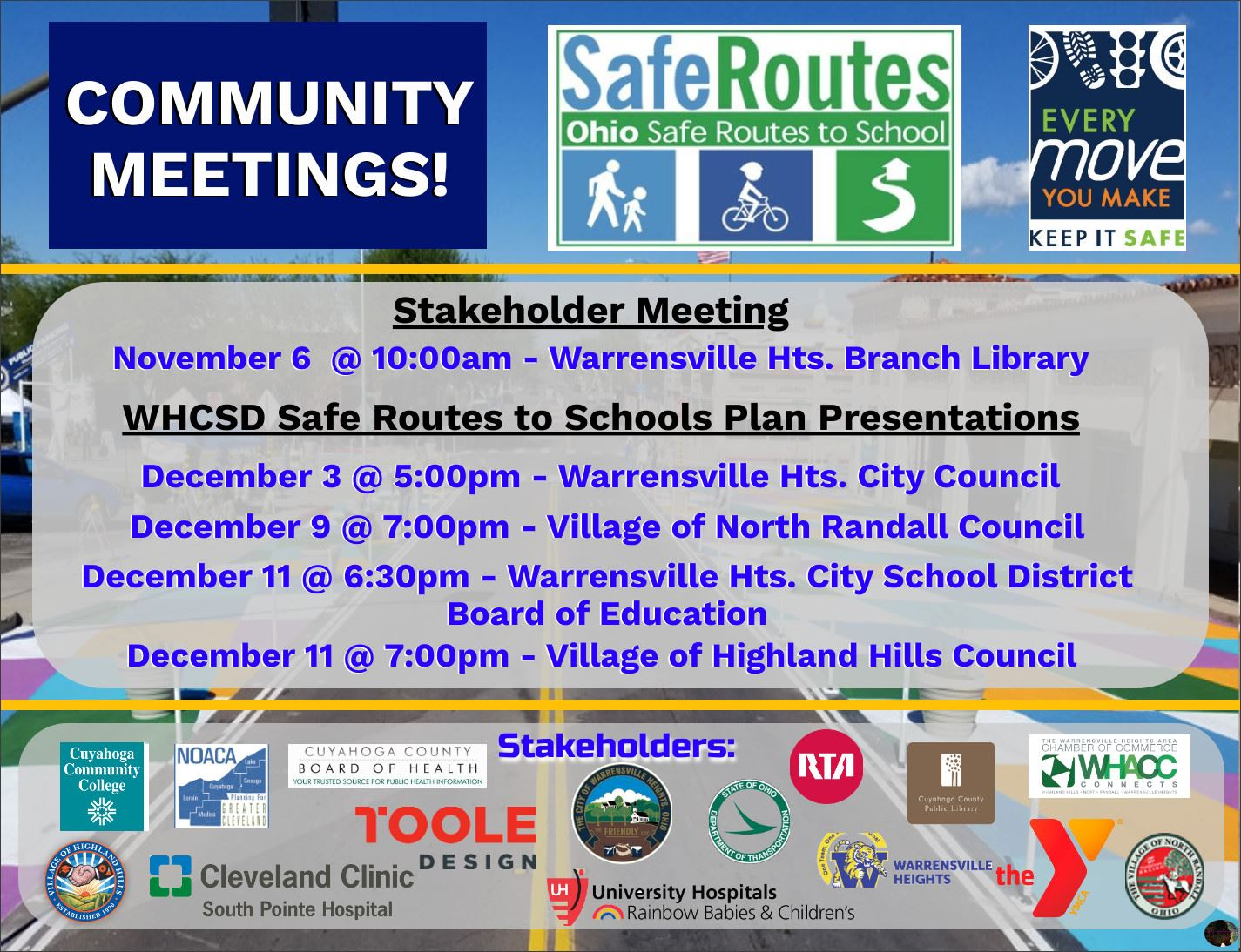 WHCSD SRTS Community Meeting Flyer - Final